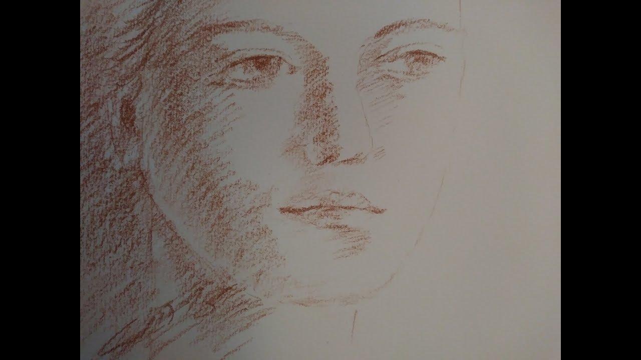 Comment dessiner un visage de femme à la sanguine par Jean-Joseph Chevalier