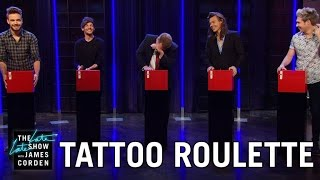 Video Tattoo Roulette w/ One Direction download MP3, 3GP, MP4, WEBM, AVI, FLV Desember 2017