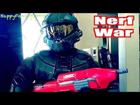 Thumbnail: Nerf War: Zombies Attack - Halo Master Chief Joins the Team! - Part 17