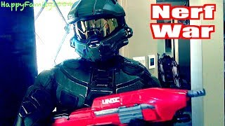 Nerf War: Zombies Attack -  Halo Master Chief Joins the Team! - Part 17