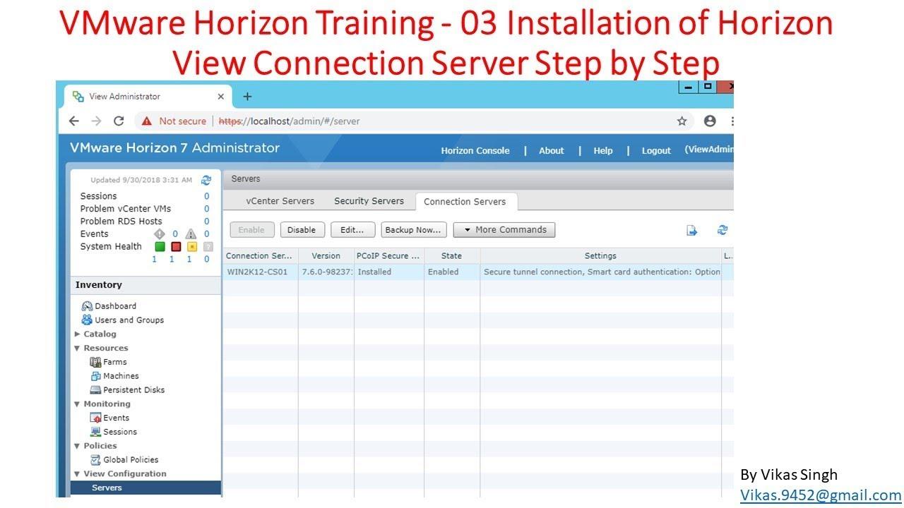Vmware Horizon Training 03 Installation Of Horizon View Security
