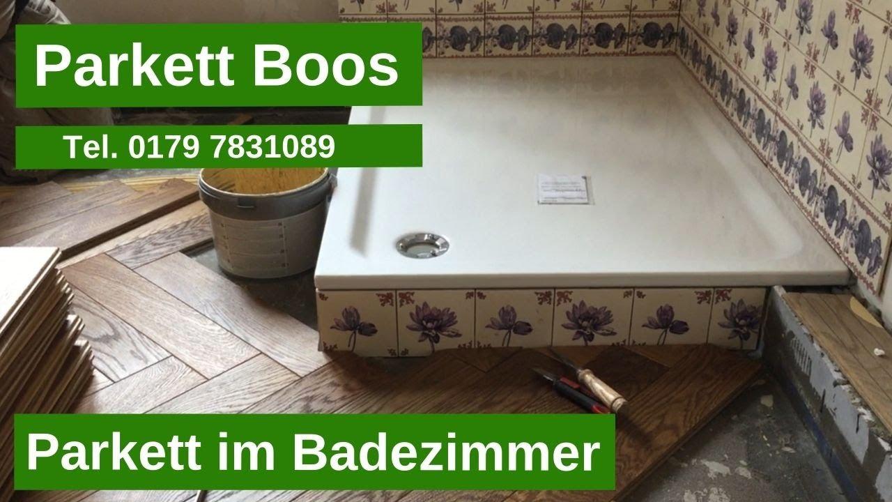 Parkett Holzboden Eiche Massiv Geolt Im Badezimmer In Koln Tel 0179 7831089 Youtube