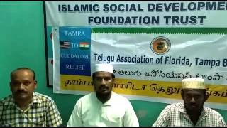 Thank you note to Telugu Association of Florida from Cuddalore villages