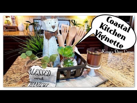 Summer Kitchen Vignette Challenge 2019 | Coastal Farmhouse Decor
