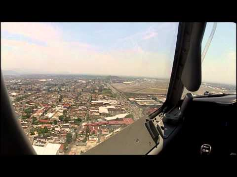 GO PRO VIEW ON A FLIGHT DECK  CLEAR TO LAND MEXICO CITY