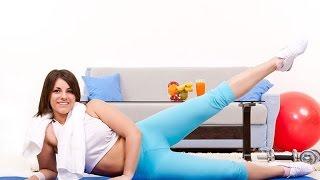 Фитнес для всех! Как быстро похудеть дома! фитнес упражнения для похудения _ часть - 1- я.