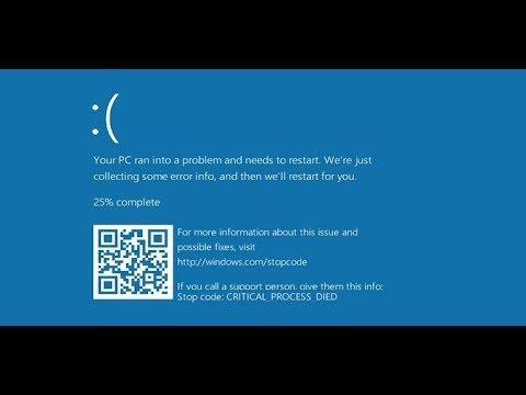 حل مشكلة شاشة زرقاء في ويندوز Windows 10