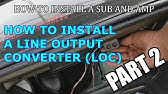 Pac Sni-35 Line Out Converter in 2004 Subaru Forester XT