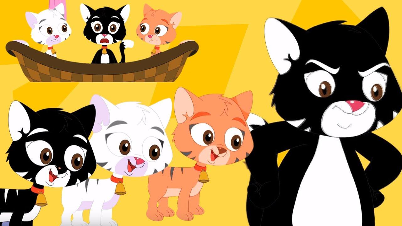 tres pequeños gatitos rima   canción de los niños   poema para niños ...