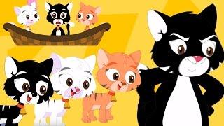 tres pequeños gatitos rima | canción de los niños | poema para niños thumbnail