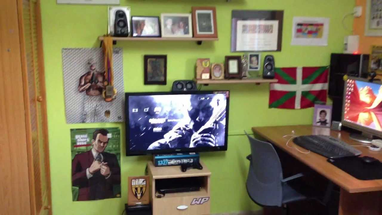Mi gaming setup ps3 pc youtube - Habitacion gaming ...