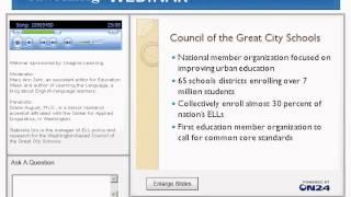 Webinar: Improving Literacy for English-Language Learners