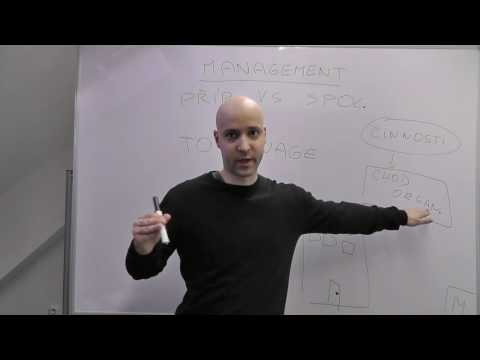 Management 1 - Podstata managementu