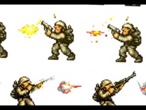 Game Sprites Metal Slug Enemy Soldier 1 Youtube