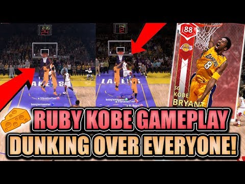 NBA 2K18 MYTEAM RUBY KOBE GAMEPLAY! INSANE SUPERMAX GAME VS THE CHEESIEST KID