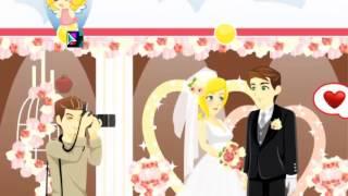 Как поцеловаться на свадьбе - игра для девочек