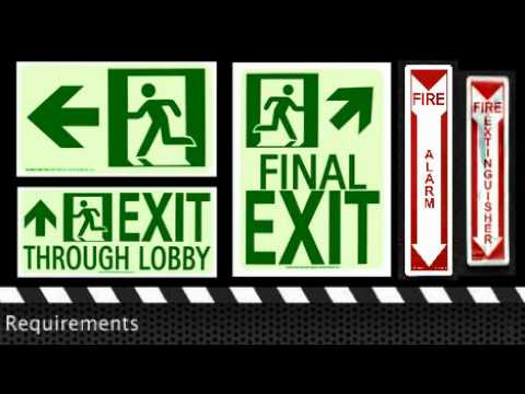 Exit Signs & The 2009 International Building and International Fire Code