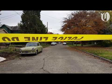 Near the scene where police shot bank robbery suspect in North Portland