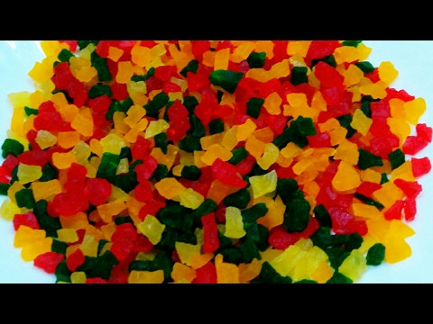 Tutti Frutti | Indian Candie Fruit Cubes Recipe | How to make Tutti Frutti at home from Raw Papaya..