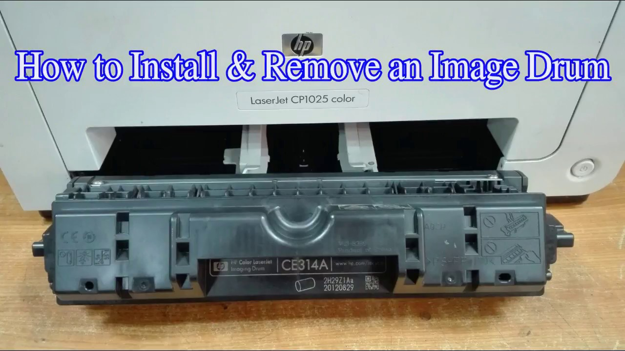 How to Remove & Install HP CLJ CP1025 Color Image Drum