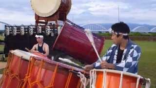 2014年8月2日に開催された「ふじかわ夏まつり」での鬼太鼓座の演奏です。