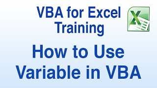 Visual Basic for Applications/VBA for Excel Tutorial - How to Use a Variable in a VBA Macro