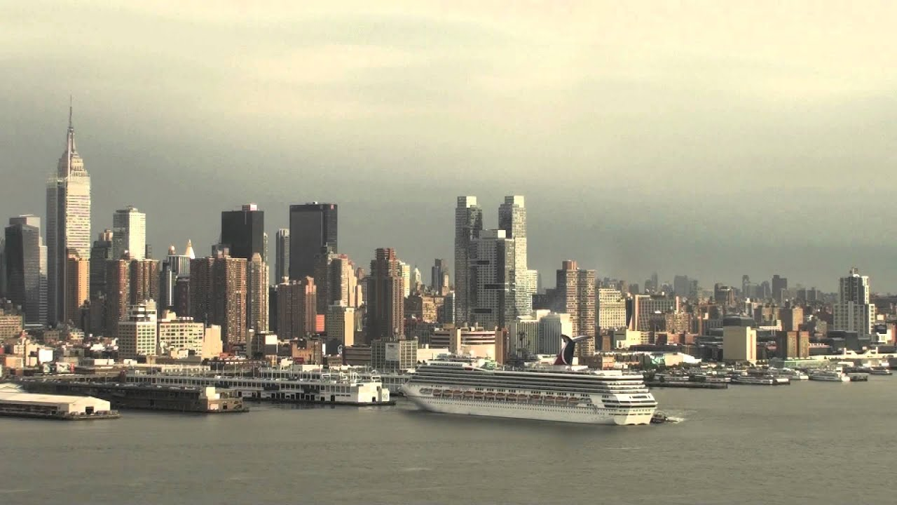 Three Cruise Ships Depart New York June YouTube - Cruises departing from ny