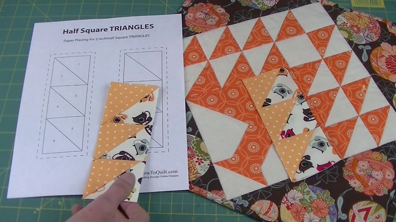 Half square triangles and strip pieced