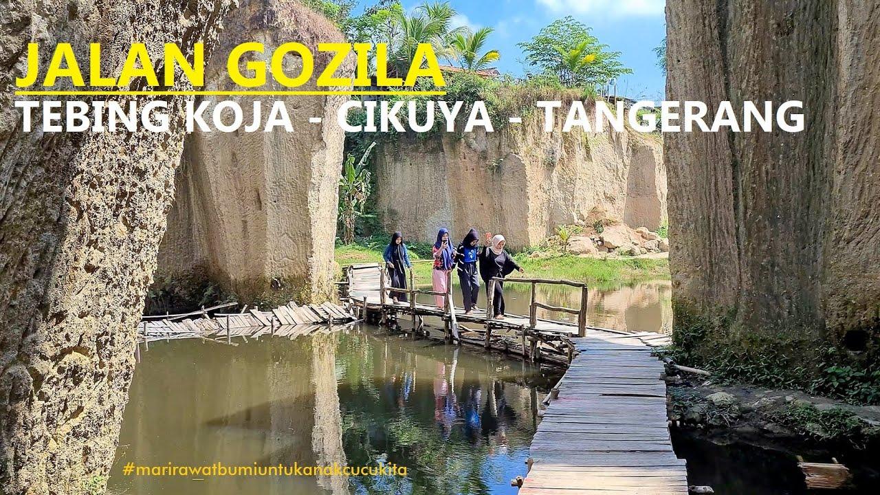 ⁴ᴷ⁶⁰ WALKING AROUND ~ TEBING KOJA [KOJA CLIFFS] known as KANDANG GOZILA / GODZILA @ CIKUYA TANGERANG