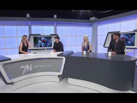 Entrevista a Cosplayers Aerien y Mike Valo en Noticias Canal 7