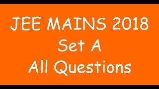 jee main 2018 paper solutions