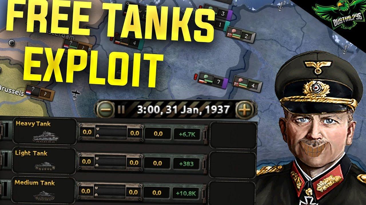 HOI4 Tank Exploit (Hearts of Iron 4 Man the Guns Exploit Tutorial)