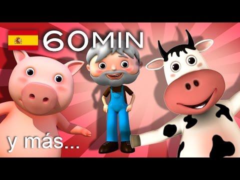 El viejo McDonald tiene una granja | Y muchas más canciones infantiles | ¡60 min de LittleBabyBum!