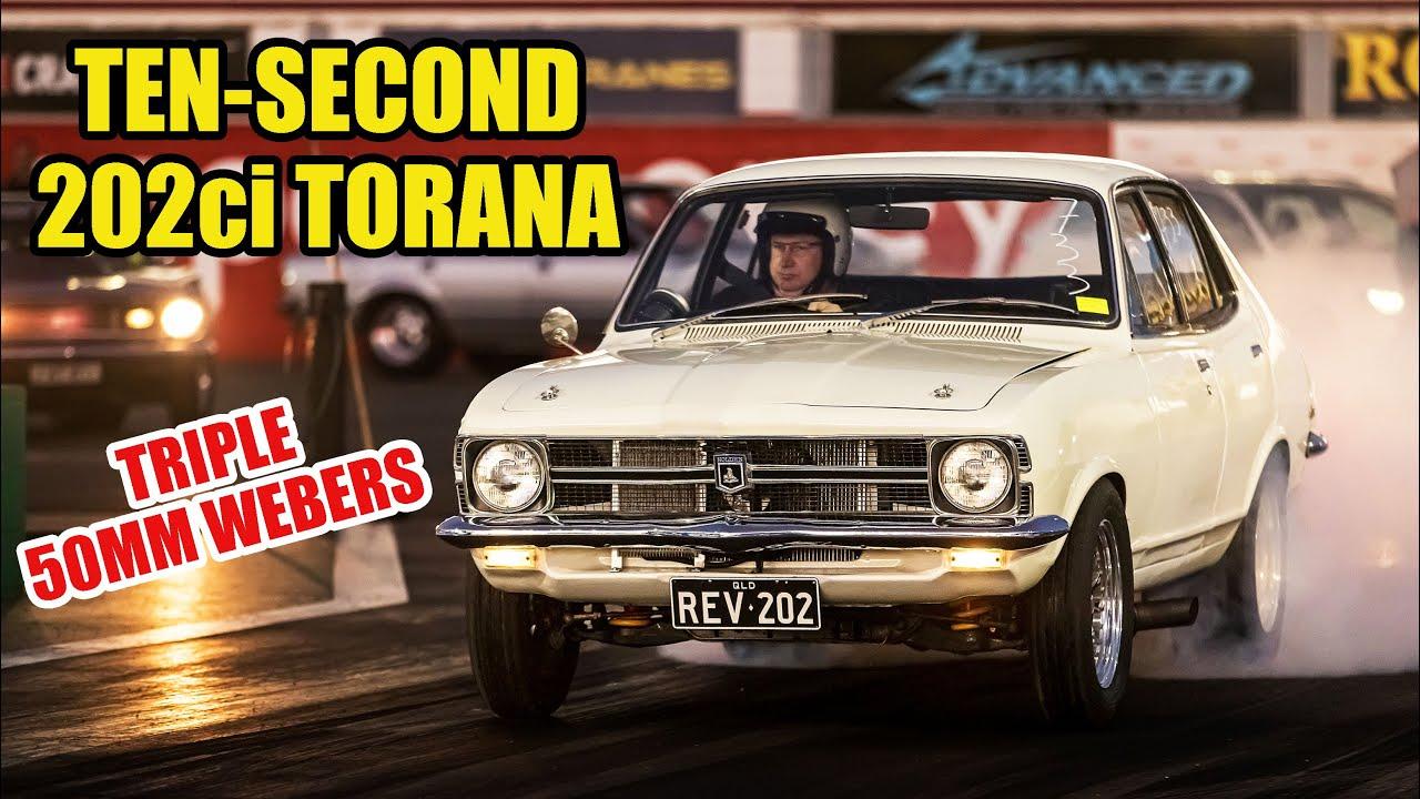 Download 8000rpm Six-Pack Torana Runs 10s With a 202ci Six!