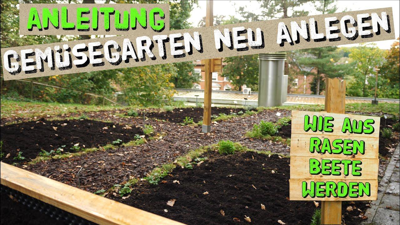 Anleitung: Gemüsegarten anlegen in kurzer Zeit - Rasen/Wiese in Gemüsebeete  umwandeln