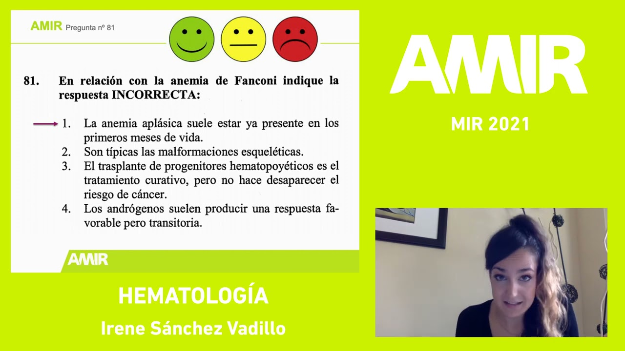 Mir 2021 Hematologia Irene Sanchez Vadillo Youtube