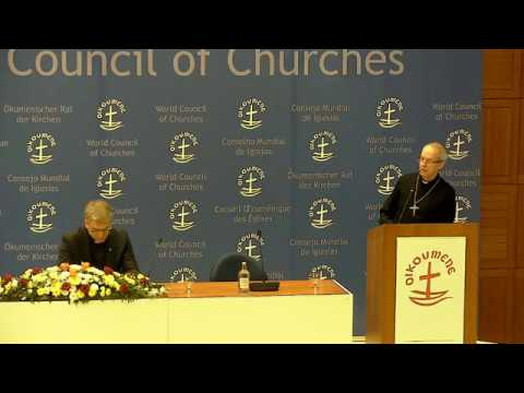 Archbishop of Canterbury Justin Welby: public lecture, live from the WCC