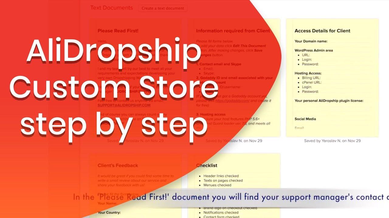 Dropshipping custom store development service   AliDropship
