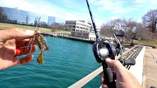 Bank Fishing NEW Urban Ponds!! (KICKED OUT)
