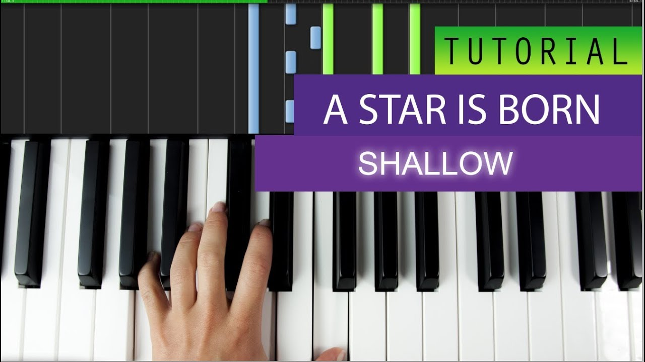 A Star Is Born - Shallow - Piano Tutorial - MIDI File Download