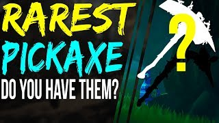 Fortnite Top 5 Rarest Pickaxe Skins Fortnite Battle Royale RAREST PICKAXES Harvest Tool Pickaxe skin