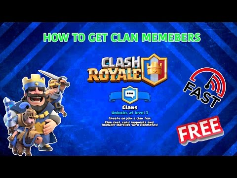 Clash Royale - How to Get Clan Members Fast!