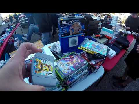 Live Retro Video Game Hunting Episode #44 Flea Market Madness..... You want how much?!?!?