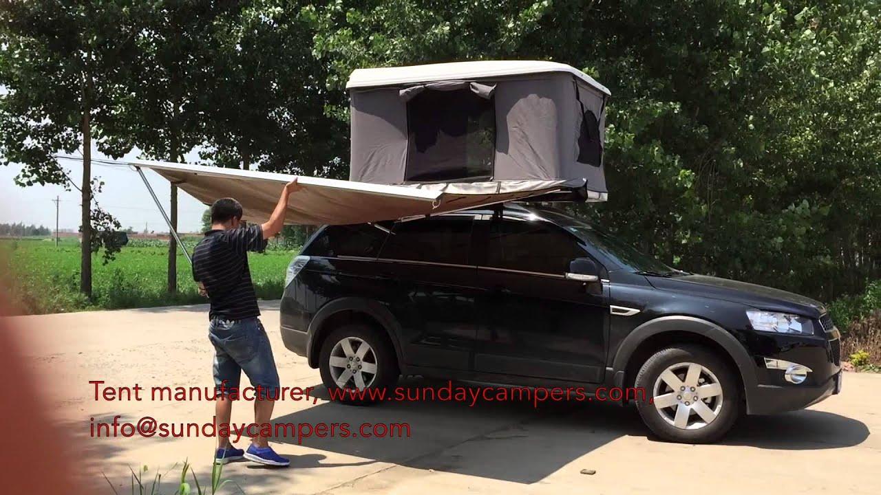 car side awning & car side awning - YouTube