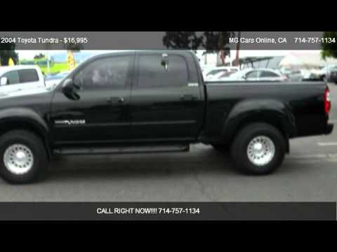 2004 toyota tundra limited double cab 4wd for sale in. Black Bedroom Furniture Sets. Home Design Ideas