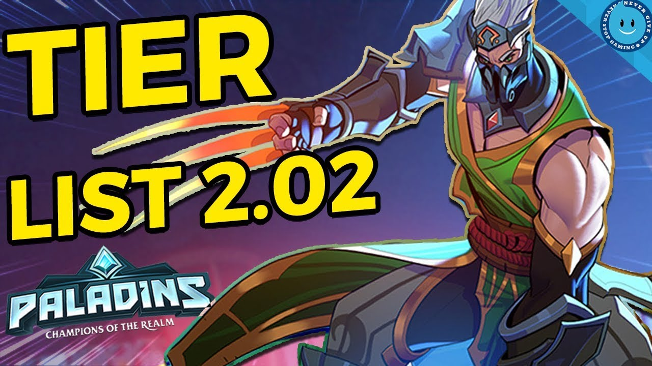 Paladins Tier List 2020.Paladins Tier List 2 02 The Champions You Should Be Playing