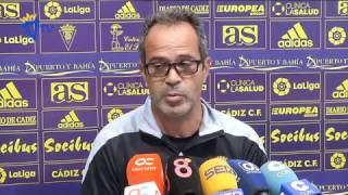 Rueda de prensa de Álvaro Cervera en previa Cádiz-UCAM (21-10-16)