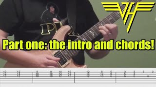 Guitar Lesson, Part One - Jump (VAN HALEN): How to Play the Keyboard Parts on Guitar