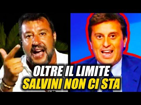 PARENZO OLTRE IL LIMITE, LA REAZIONE DI SALVINI (La7, 24.08.2020)