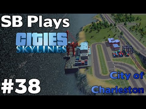 Building a Rail and Cargo Harbor Transfer Hub  - SB Plays Cities Skylines ep38